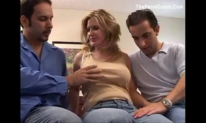 Busty milf 1st time dp