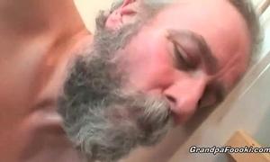 Grandpa copulates sexy hottie