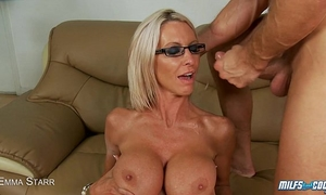 Milf emma starr drilled and facialized