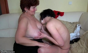Older hotties fucking with younger honeys and licking hotties muff