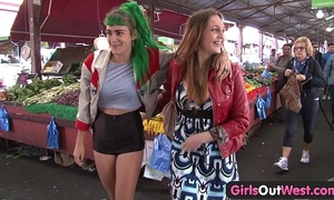Girls out west - sexual lesbo with hirsute wet crack acquires fingered