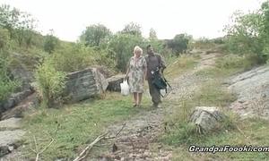 Mature pair having enjoyment in nature