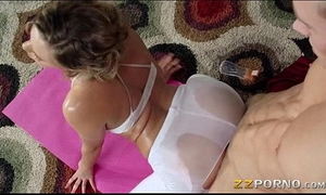 Juicy butt mia malkova drilled up priceless with her yoga coach