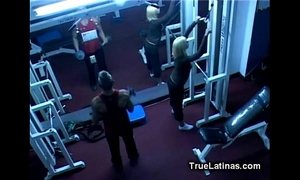 Latin honey acquires drilled by gym coach