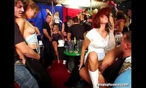 Hot party hotties engulf jocks in club fuckfest