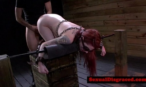 Tattood redhead sadomasochism fetish chick screwed