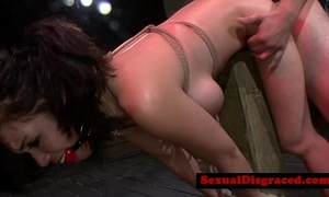 Ball gagged sadomasochism sub roughly poundedreed[20]