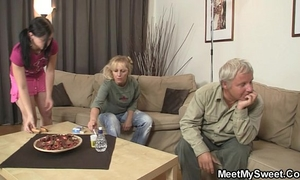 Slutty doxy rides his father's 10-Pounder