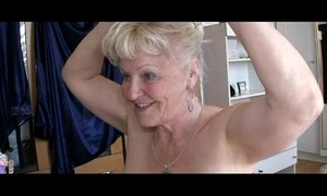 Two grannies and guy have sex