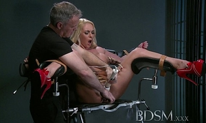 Bdsm xxx defiant sub receives masters wrath previous to squirting over the dungeon floor