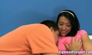 Ebony girlfriend enjoys getting screwed