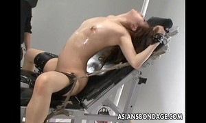Nasty oriental doxy in thraldom receives her bawdy cleft teased