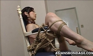 Extreme thraldom and fake penis fuck for an oriental hottie