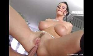 Ass traffic huge large bumpers anal drilled and double permeated