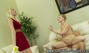 Amateur step family three-some