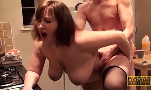 Hardfucked plumper fed with doms large shlong and sexy cum