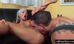 Cunt licked blond acquires soaked a-hole marital-device drilled
