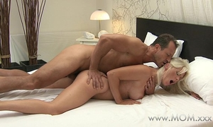 Mom milf with large whoppers has multiple orgasms