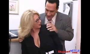 Milf screwed hard in the office