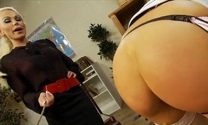 Blonde hottie acquires punished and rewarded