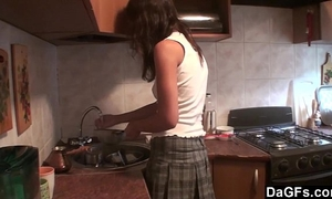 Hot lesbo legal age teenager surprises her paramour