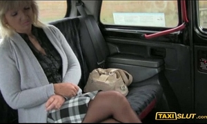 Phat wazoo dilettante golden-haired harley gangbanged a driver in public