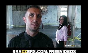 Beautiful dark brown cop kirsten price acquires screwed by her partner