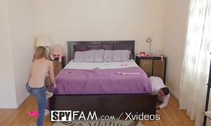 Spyfam step sister kenzi kellie catches step brother sniffing pants