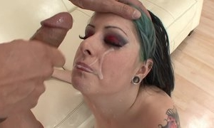 Eager punk chick with natural breasts getting her cunt drilled