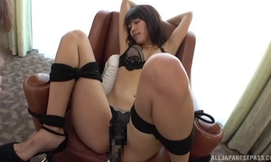 Bound Asian girl gets her pussy vibrated and fucked well
