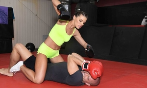 Fabulous boxer chick gets ass fucked in the gym