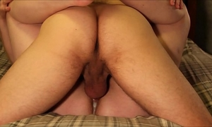 Four hardcore non-professional creampie copulates & eight intensive orgasms