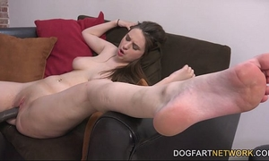 Elektra rose acquires her fur pie creampied by a dark fellow