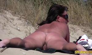 Amateur nudist voyeur overweight milf close-up movie