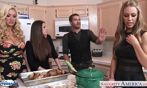 Hot beauties brooklyn pursue, nicole aniston and summer brielle receives nailed