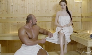Relaxxxed - hard fuck at the sauna with impressive russian hottie angel rush