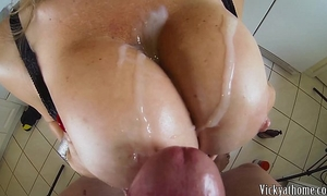 Big scoops overspread in ball cream!! hall of fame milf vicky vette!