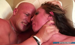 Roughfucked milf chokes on heavy schlong