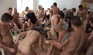 Party gals engulfing and fucking their allies
