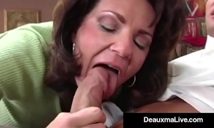 Busty cougar deauxma bonks the tax man in her abode! oho!