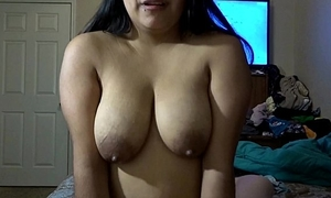 Riding daddy's pecker whilst squeezing milk out my boobs