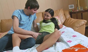 Homework for hawt fantasy teenie ends in large engulf & fuck fest in snatch untill facial