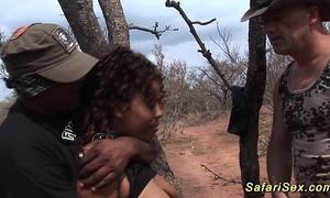 Babe punished at the safari voyage