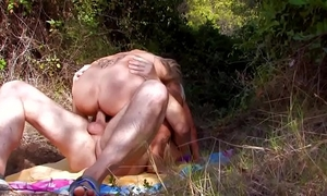 Hot golden-haired chick screwed hard on a tropical beach